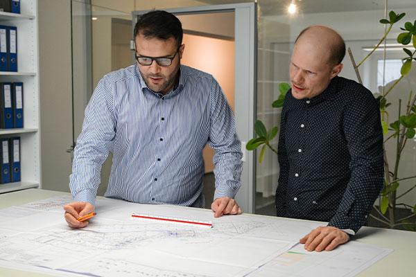 Planung-Zeichnung-Team