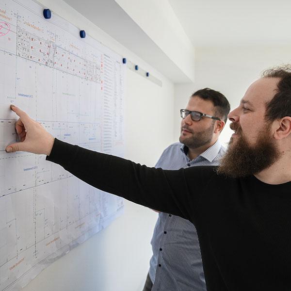 TeamarbeitIngenieur-Plan
